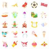 Comfort icons set, cartoon style Stock Image