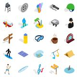 Comfort icons set, isometric style. Comfort icons set. Isometric set of 25 comfort vector icons for web isolated on white background Stock Photo