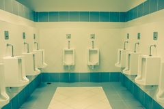 Split toning  comfort Toilet Urinals. The comfort male Toilet Urinals Royalty Free Stock Photo