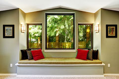 Comfort sitting area by the window Royalty Free Stock Image