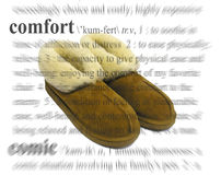 Comfort Theme. A photo of some warm slippers with a comfort theme Royalty Free Stock Photo