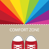 Comfort zone illustration Royalty Free Stock Photography