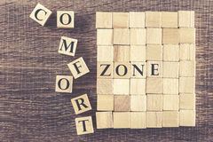 Comfort Zone message Royalty Free Stock Photos