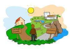 Comfort Zone VS Opportunity Stock Photos