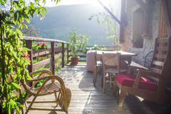 Comfortabel balkon Royalty-vrije Stock Afbeelding