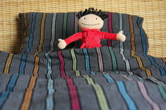 Comfortabel bed Royalty-vrije Stock Foto