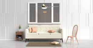 Comfortabel binnenlands ruimteontwerp Royalty-vrije Stock Foto