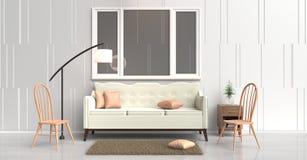 Comfortabel binnenlands ruimteontwerp Stock Afbeeldingen