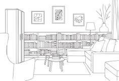 Comfortabel Lezingszaal Overzicht en Schets Vectorillustratie Stock Fotografie