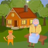 Comfortabel platteland royalty-vrije illustratie