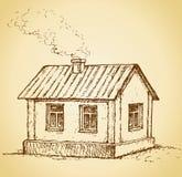 Comfortabel weinig huis EPS 10 stock illustratie
