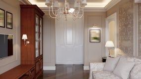 Comfortabel woonkamer binnenlands ontwerp Stock Afbeelding