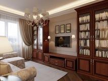 Comfortabel woonkamer binnenlands ontwerp Stock Foto's