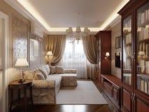 Comfortabel woonkamer binnenlands ontwerp Royalty-vrije Stock Afbeelding