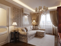 Comfortabel woonkamer binnenlands ontwerp Stock Foto