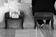 Comfortabele Bruidegom royalty-vrije stock foto