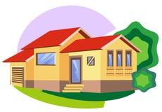 Comfortabele bungalow royalty-vrije illustratie