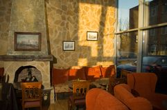 Comfortabele cafetaria Royalty-vrije Stock Foto