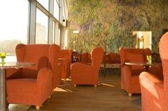 Comfortabele cafetaria royalty-vrije stock foto's