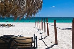 Comfortabele hoek op een strand Stock Fotografie