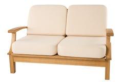 Comfortabele houten leunstoel Royalty-vrije Stock Foto