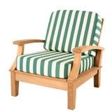 Comfortabele houten leunstoel Stock Afbeelding