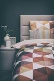 Comfortabele huisslaapkamer Stock Foto