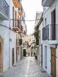 Comfortabele Ibiza-Straten Royalty-vrije Stock Foto's