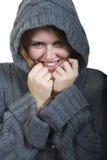 Comfortabele Jonge Vrouw Stock Foto