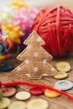 Comfortabele Kerstmisornamenten stock afbeeldingen
