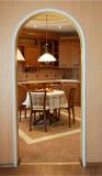 Comfortabele keuken Stock Foto