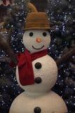 Comfortabele Sneeuwman Stock Afbeeldingen