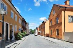 Comfortabele straat van Uppsala stock foto