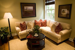 Comfortabele woonkamer Royalty-vrije Stock Foto's