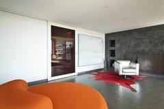 Comfortable armchair orange Stock Image