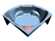 Comfortable bath tub. Illustration of a comfortable bath tub Stock Image