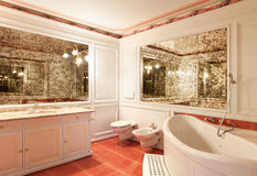 Interior home, bathroom Stock Photos