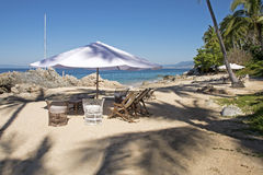Comfortable beach setting in Mexico Royalty Free Stock Photos
