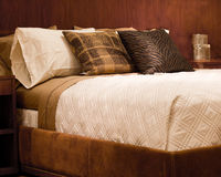 Comfortable bed Stock Photography
