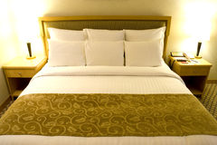 Comfortable Bed Royalty Free Stock Photography