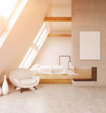 Comfortable bedroom in modern house Stock Photography