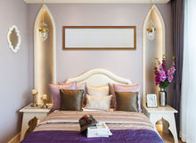 Comfortable bedroom suite Stock Images