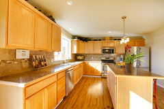 Comfortable big kitchen room Stock Photo