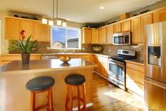 Comfortable big kitchen room Stock Photography