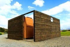 Comfortable bio toilet outdoors Royalty Free Stock Image