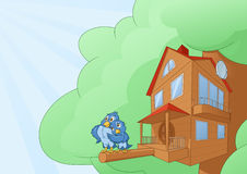 Comfortable bird house Stock Photo