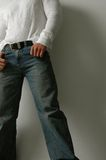 Comfortable blue jeans Stock Photography