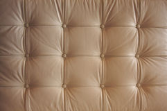 Comfortable Buttoned Leather Pattern. With dramatic lighting Stock Image