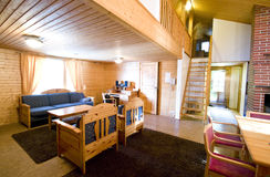Comfortable cabin. A very comfortable and luxurious cabin, Finland style Stock Photography