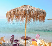 Comfortable cafe. Сozy cafe with a beautiful view of the sea Royalty Free Stock Photos